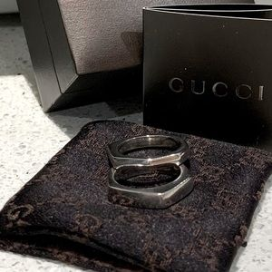 Gucci-Vintage SS 925 ring set